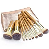 Amazon Price History for:Matto 9-Piece Bamboo Makeup Brush Set with Travel Bag