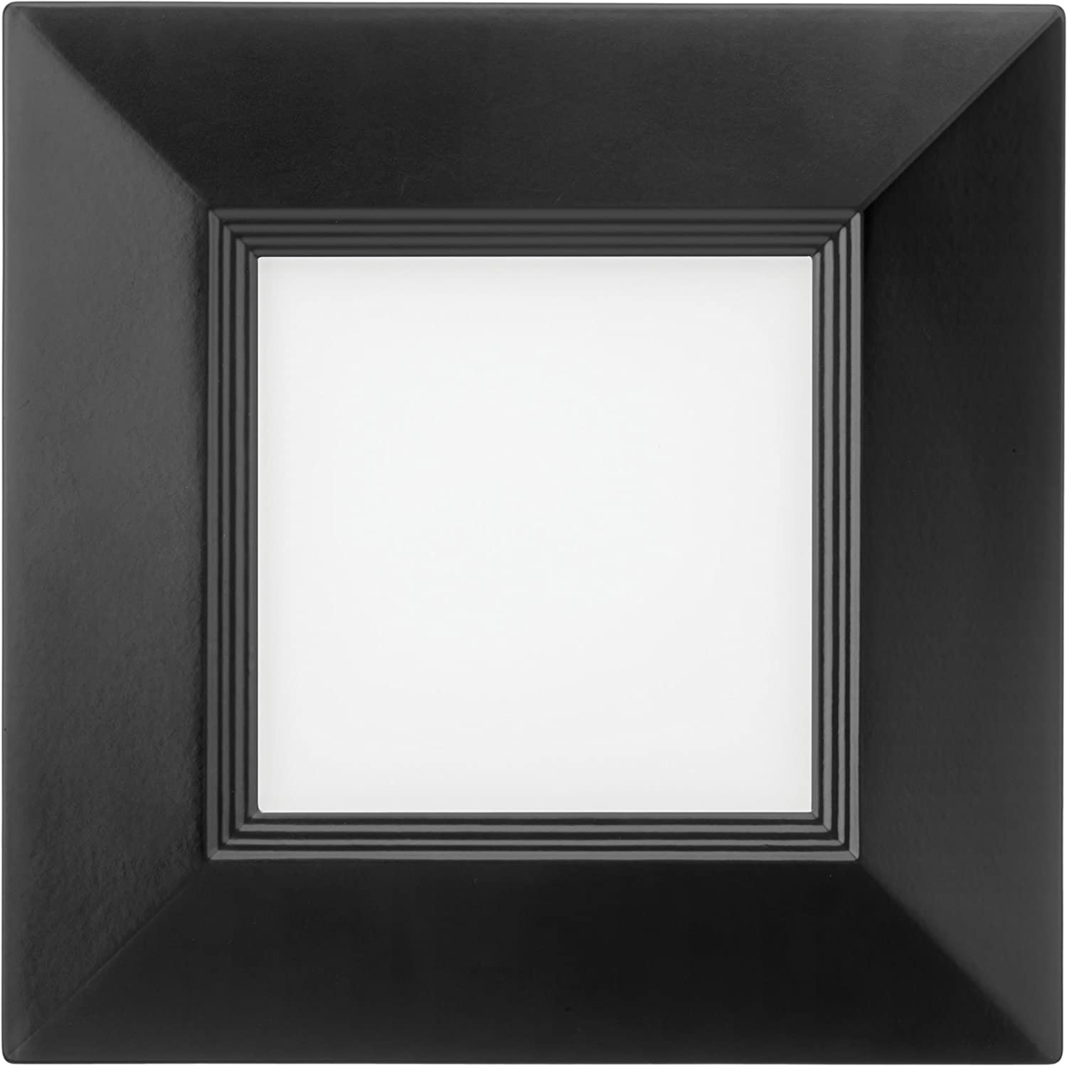 Matte Black 4000K Cool White Lithonia Lighting WF4 SQ B LED 40K MB M6 10.3W Ultra Thin Square Dimmable LED Recessed Ceiling Light with Baffle Trim