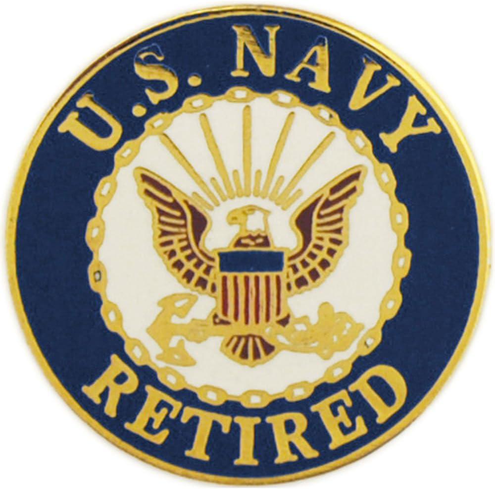 USN Retired United States Navy USN Retired Logo Seal 1 Lapel Pin