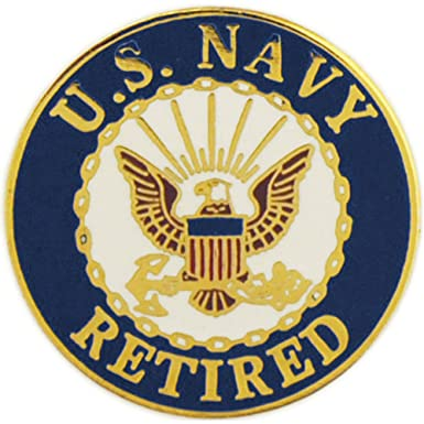 Amazon United States Navy Logo Retired Pin Military