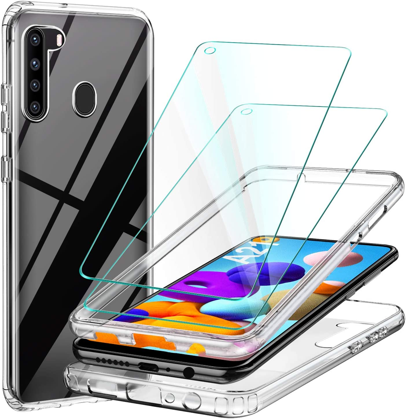 Ivencase Cover Case For Samsung Galaxy A21s Shockproof Silicone Tpu Transparent Cover Protective Soft Case For Samsung Galaxy A21s Transparent Amazon Co Uk Electronics