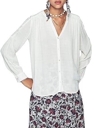 Pepe Jeans Blusa Caroline Beige para Mujer: Amazon.es: Ropa y accesorios