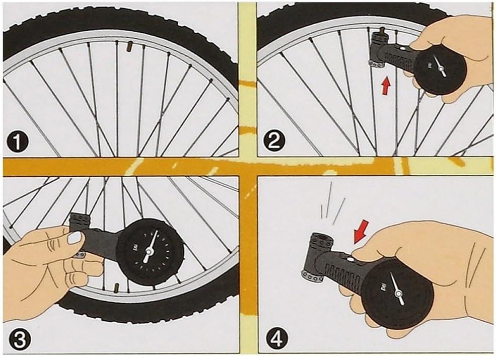 Forgun - Medidor de presión de Aire para Bicicleta MTB (160 PSI, para válvula Presta/Schrader): Amazon.es: Jardín