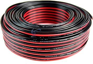 Audiopipe 30/' Feet 20 GA Gauge Red Black 2 Conductor Speaker Wire Audio Cable