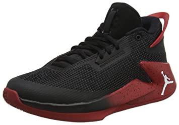 check out 2fd37 39074 Nike Kinder Jordan Fly Lockdown (GS) Schwarz Rot Basketballschuhe 40