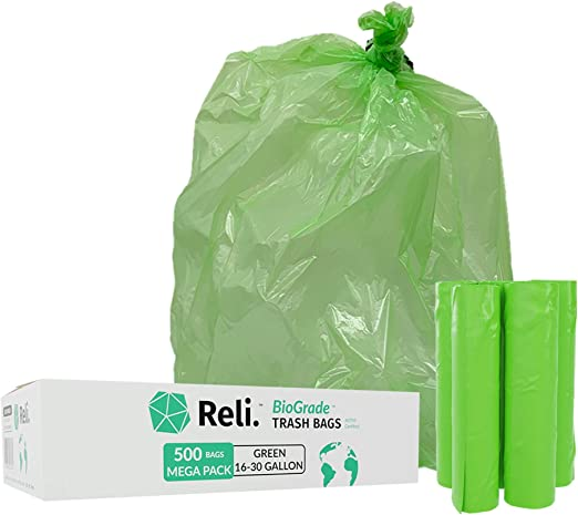 Reli. Biostar bolsas biodegradables para basura, 16 – 30 litros ...