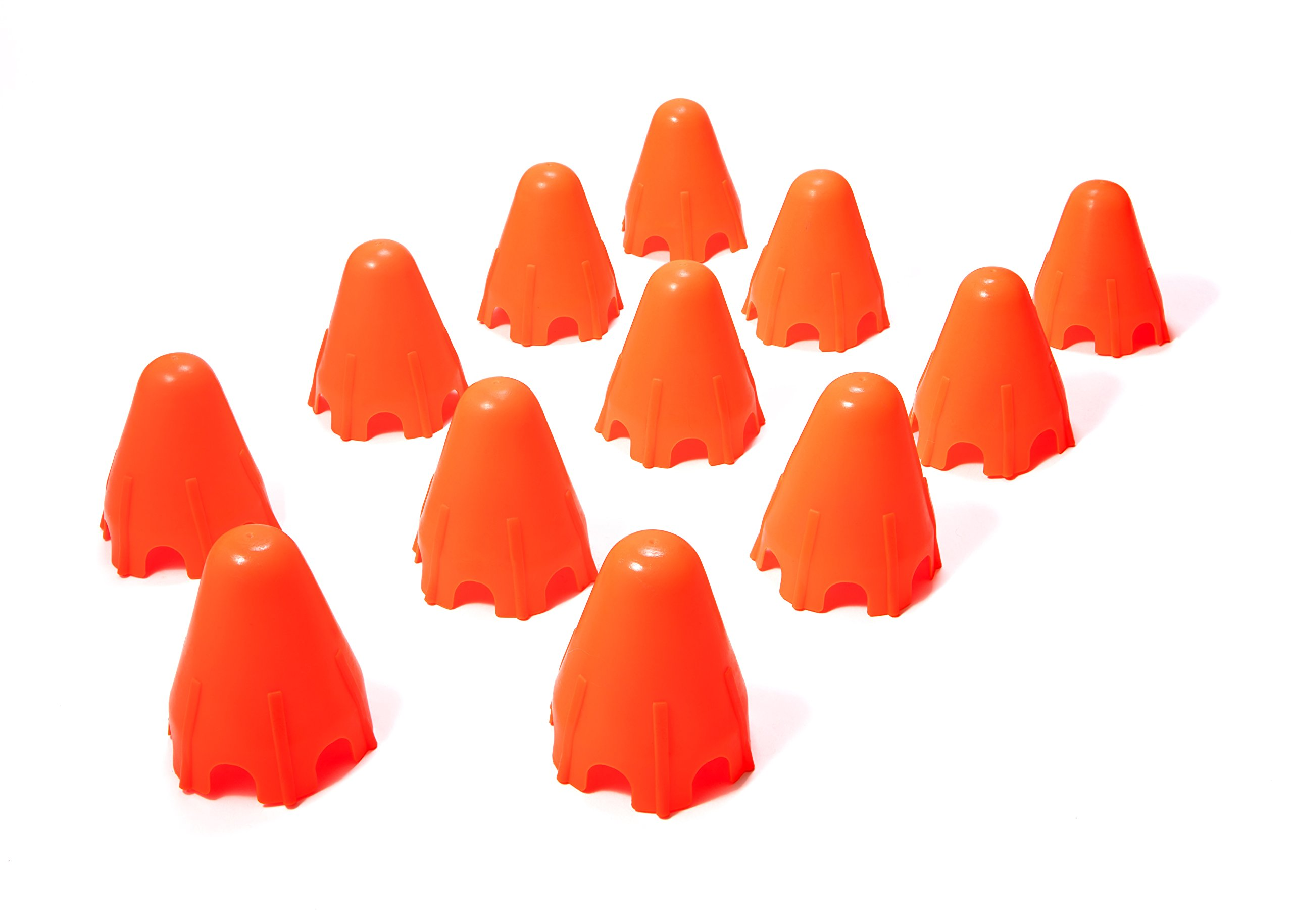 "Shot Taker Co. 4.5 inch Plastic Traffic Cones (Set of 12) | Unique Design| Perfect for Theme Party, Sports, Kids Games, Festival, Traffic, Events| Multipurpose 4.5"" Markers"