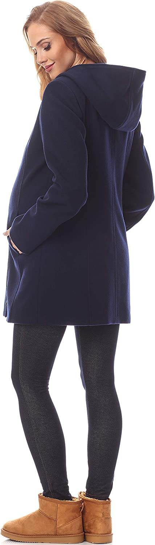 Be Mammy Abrigo Chaqueta Premam/á de Lana Embarazo Ropa Invierno BE20-226 Azul Oc/éano, EU 42=ES 42