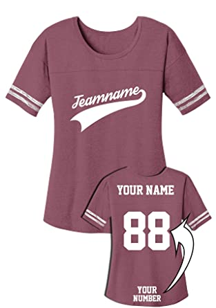 e98ccd414 Custom Women s Crecneck Jersey - Team Apparel with Unique Design - Baseball  Add Your Name Number