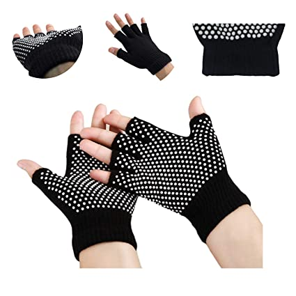 Soft Men Women Yoga Pilates Fingerless Practice Grip Glove with Anti-slip Rubber Sporting Goods Strength Training