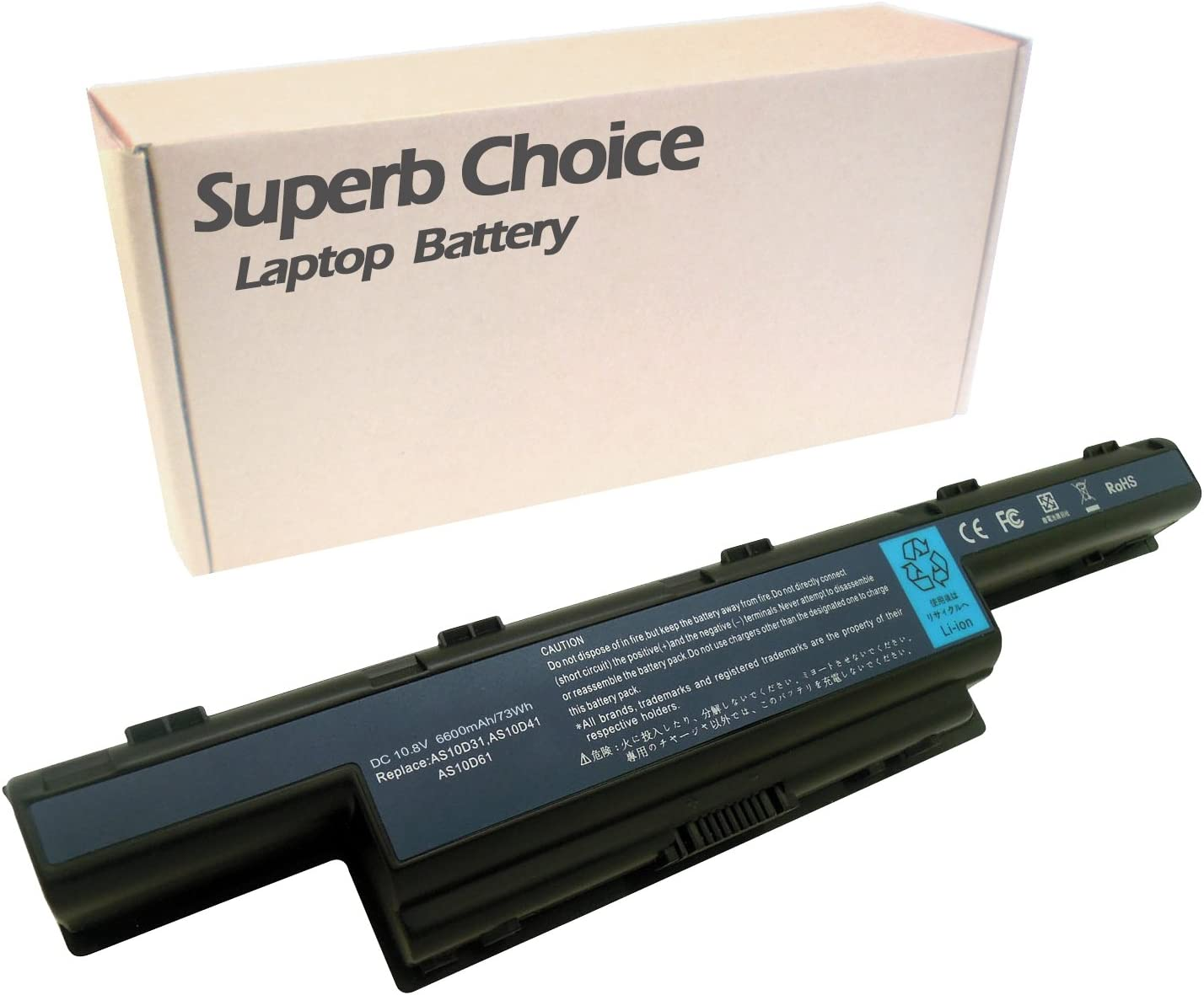 Superb Choice 9-Cell Battery Compatible with Acer Aspire 5742G 7741Z 7741Z-4475 7741Z-4592