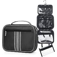 Vancase Hanging Toiletry Bag for Men Large Layred Vintage Leather Bathroom Travel Bag?Portable Waterproof Shaving Dopp…