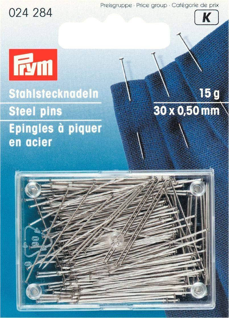 15g Plastic Box 30 x 0.50 mm Straight Pins Hardened Steel