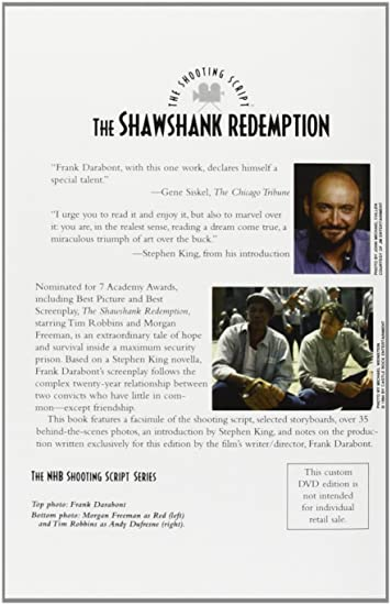 The Shawshank Redemption Special Edition Dvd Script Set 3 Dvds Uk
