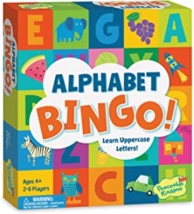Peaceable Kingdom Alphabet Bingo! Letter Learning Game for Kids