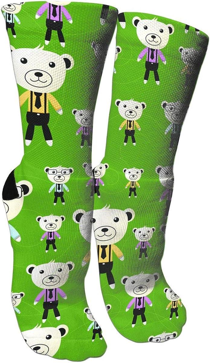 Cute Mr.bear Casual Socks Crew Socks Crazy Socks Soft Breathable For Sports Athletic Running