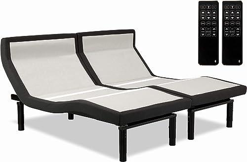 Leggett Platt Prodigy PT 3.0 Adjustable Bed, 2020 Model, Updated Features, Zero Base, Wallhugger, Massage, Bluetooth, and Zero Gravity Split King