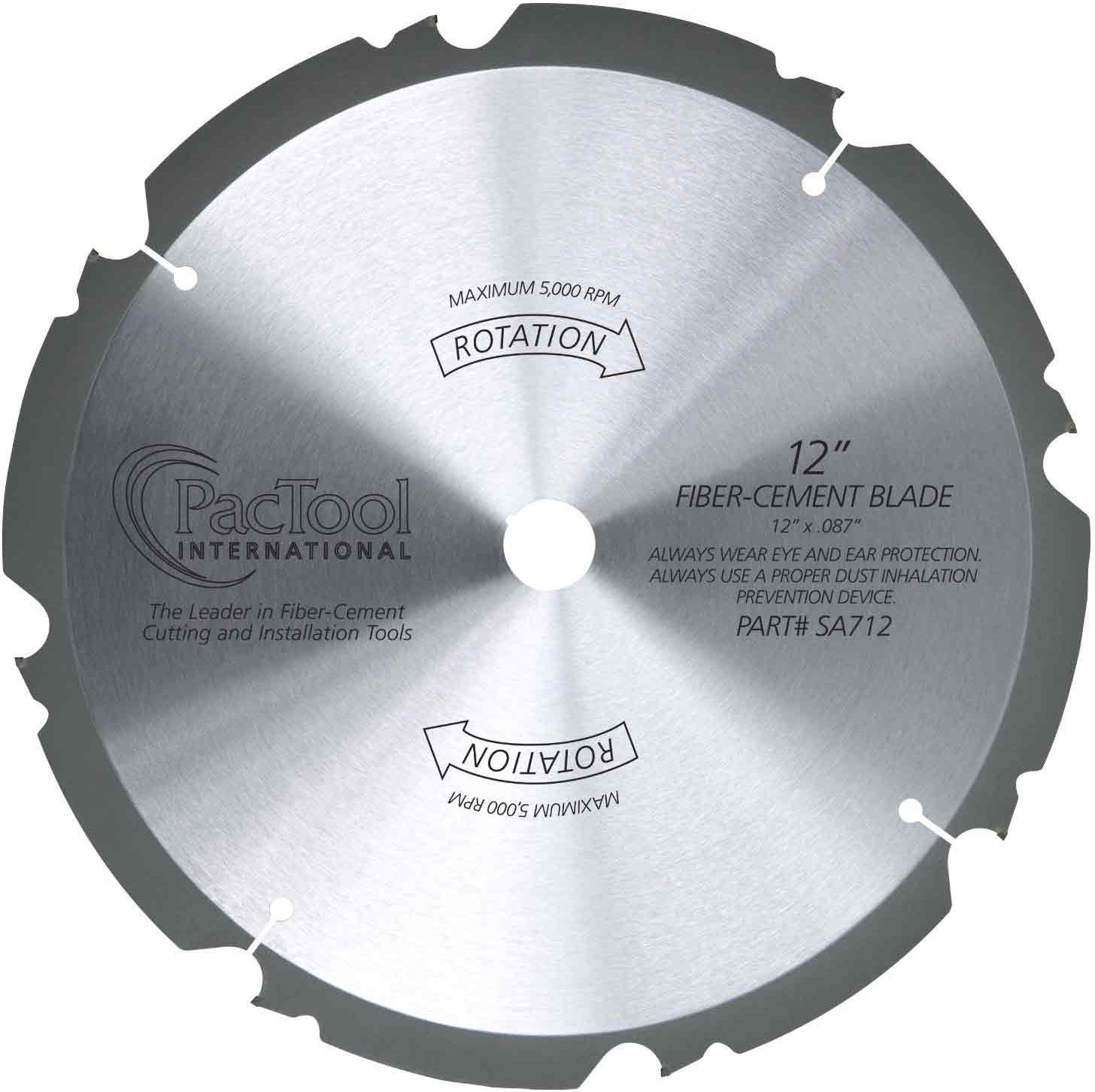 PacTool International SA710 10-Inch Fiber Cement Saw Blade by PacTool International