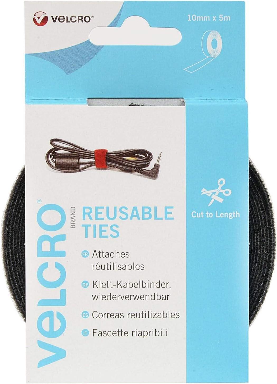 15 X VELCRO ® One Wrap reusable ties 12 mm x 20 cm Câble Manager Tie Wrap