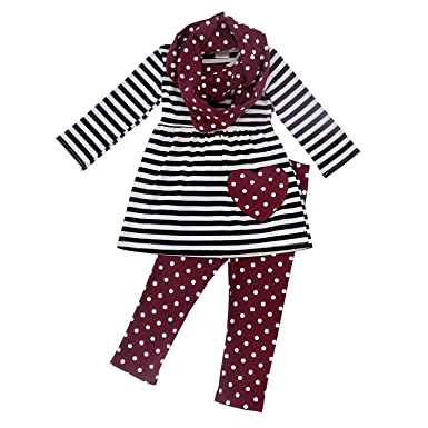 086c672cb So Sydney Toddler Girls 3 Pc Valentine's or St. Patrick's Day Holiday Outfit  & Infinity