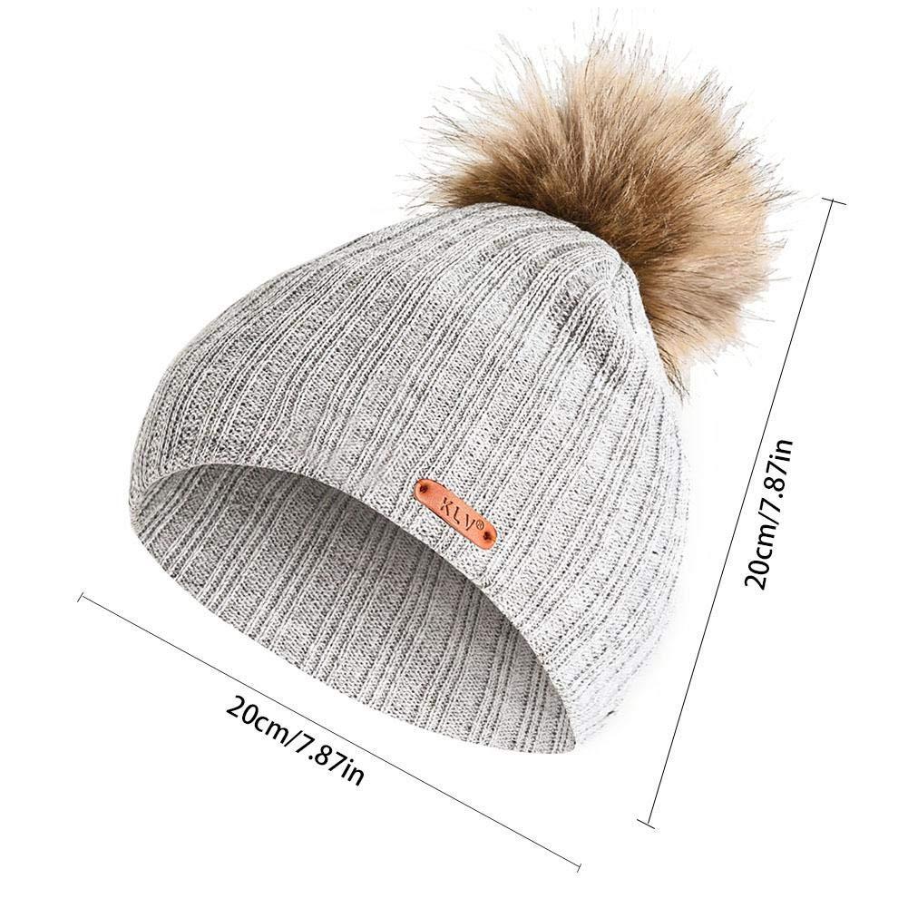 per Sombreros Niños Invierno Sombreros de Punto y Rayas de Dibujo ...
