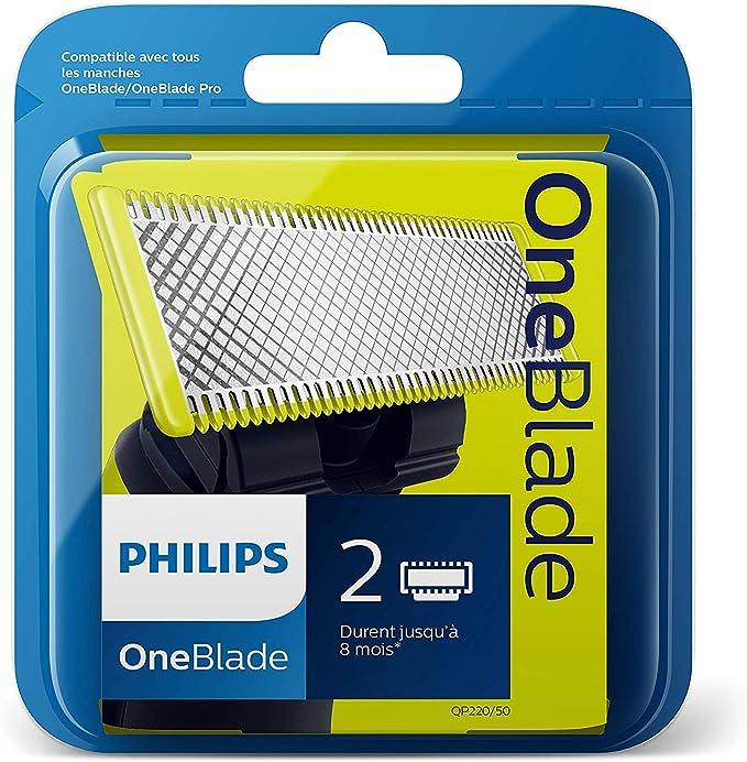 Philips Norelco OneBlade QP220/50 - Recambios para máquina de afeitar (versión extranjera), 1 paquete con 2 recambios: Philips: Amazon.es: Salud y cuidado personal