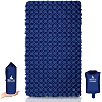 Hikenture Ultralight Double Sleeping Pad for Camping, Portable Waterproof Camping Pad with Pump Sack, Inflatable Comfort…