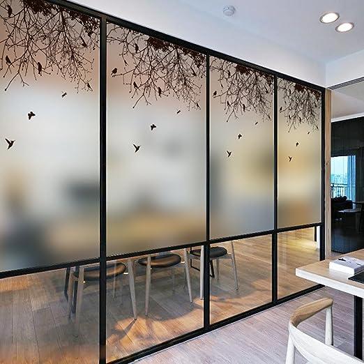 Dktie - Vinilo decorativo para ventana, diseño de película de privacidad sin pegamento, adherencia estática, vidriera para ventana, película para baño, puerta: Amazon.es: Hogar