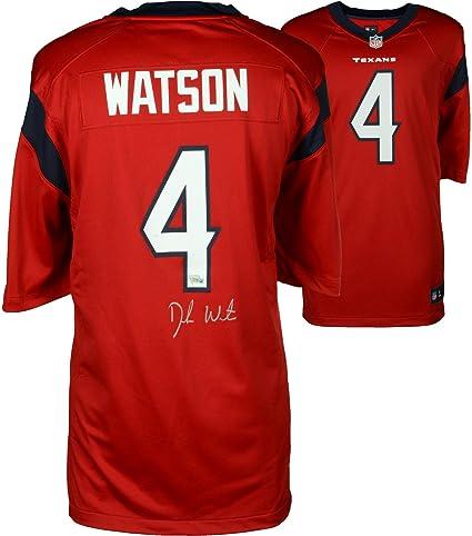 new concept 25186 ef5e6 Deshaun Watson Houston Texans Autographed Nike Red Game ...