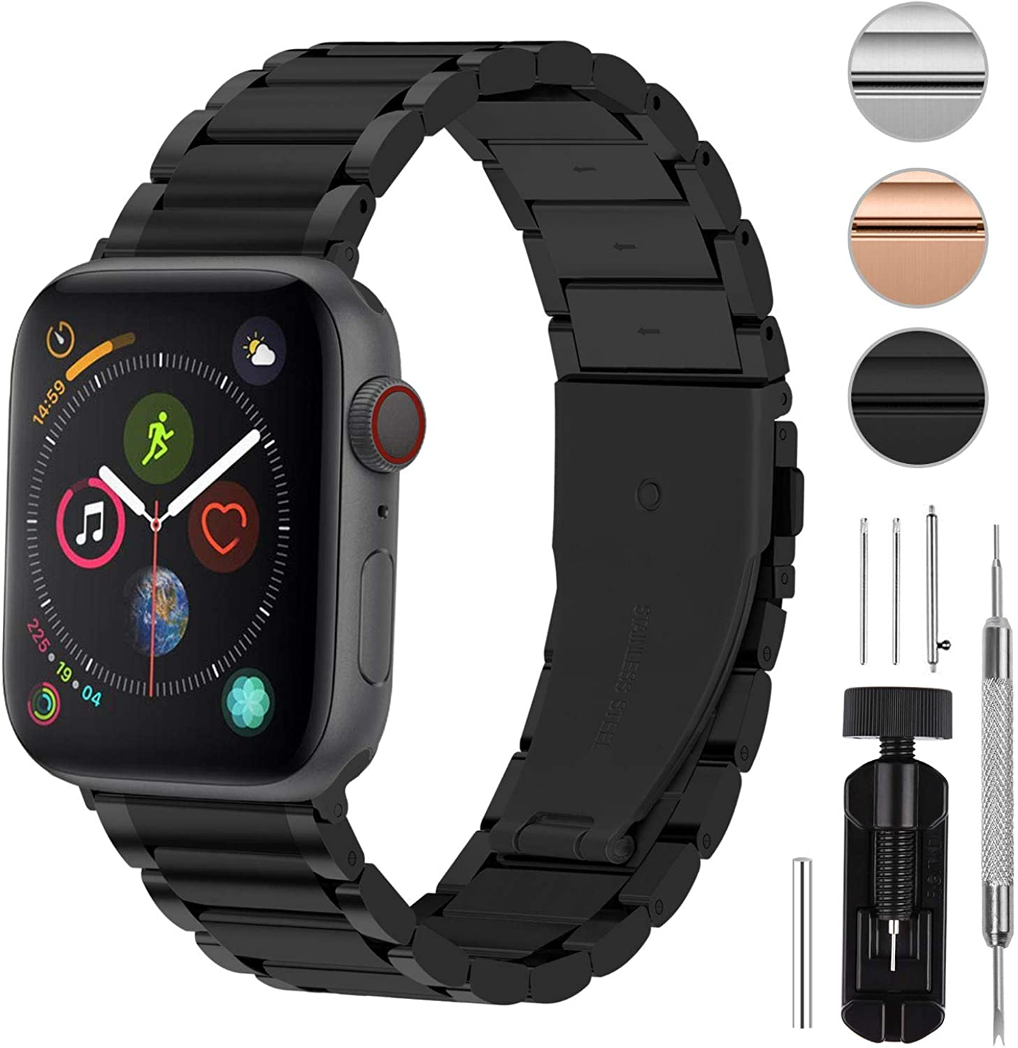 Fullmosa Compatible for Apple Watch Band iWatch SE & Series 6/5/4/3/2/1, 3 Colors LUS Watch Band for Apple Watch 38mm 42mm 40mm 44mm