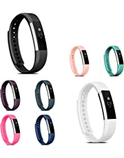 Fitbit Alta HR/Fitbit Alta Replacement Band, Zodaca Colorful Replacement Band Adjustable Wristband with Double Clasp for Alta HR/Fitbit Alta (Tracker is not Included)