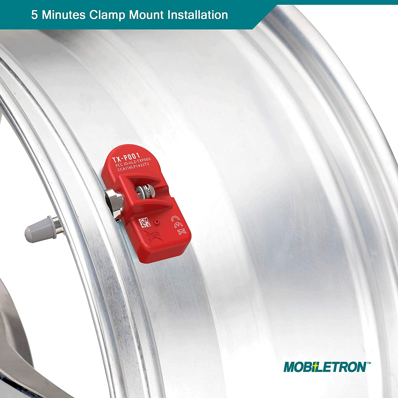 MOBILETRON 315MHz TPMS Tire Pressure Monitoring System Sensors Pre-Programmed for Nissan Maxima Sentra Titan Altima Rogue Versa Cube TX-S031