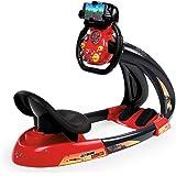 Smoby Toys, 370208, Cars Carbone, V8 Driver + Support, Simulation Conduite Enfant, Rouge
