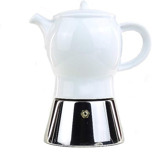 Ancap Italiano Espresso cafetera eléctrica Acero Inoxidable y ...