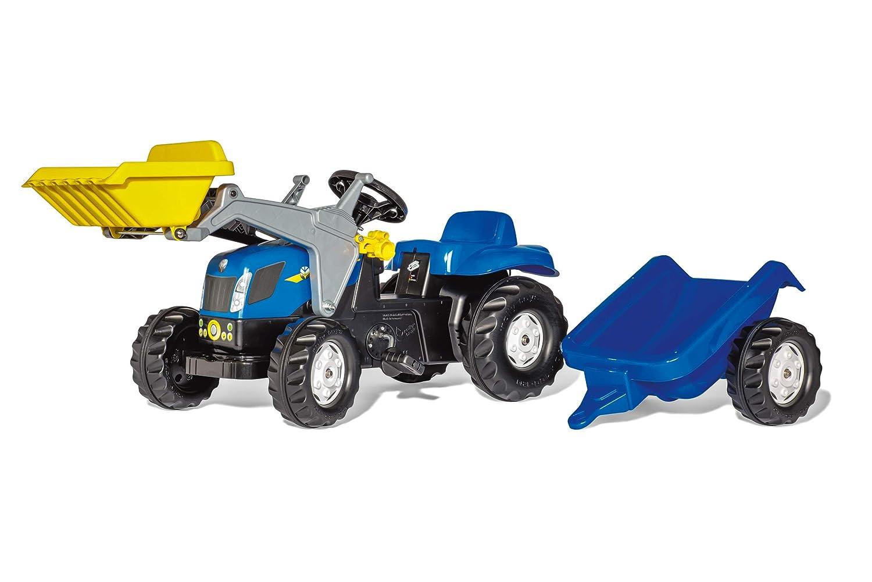 rolly toys rollyKid 023929 New Holland T 7040 con remolque y Frontl.: Amazon.es: Juguetes y juegos