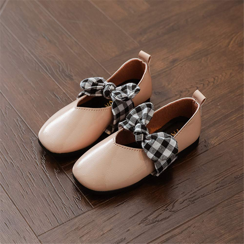 Quality.A Walking Shoes Girls Loafers Flat Shoes Mary Jane Shoes Casual Shoes Pink1 EU 26//9 M US Toddler