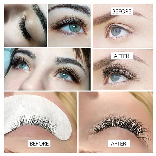 2572e2921d1 Amazon.com : BEYELIAN Classic Individual Mink Eyelash Extensions C Curl  Semipermanent Lash Extension Supplies 0.15mm 15mm : Beauty