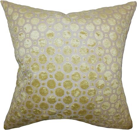 Amazon Com The Pillow Collection Kostya Geometric Pillow Citrine Home Kitchen