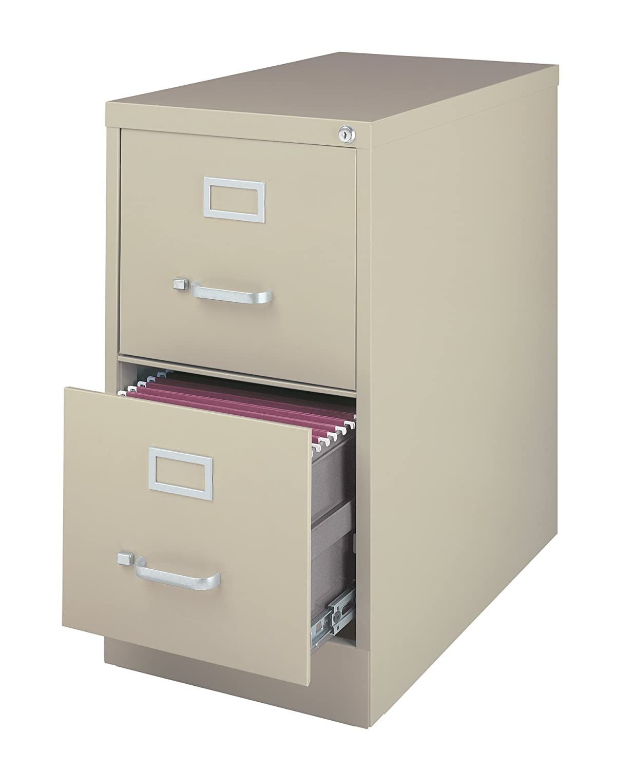 Office Dimensions Commercial Grade 25 Deep 2 Drawer Letter-Width Vertical File Cabinet, Putty HIRSH INDUSTRIES 20385