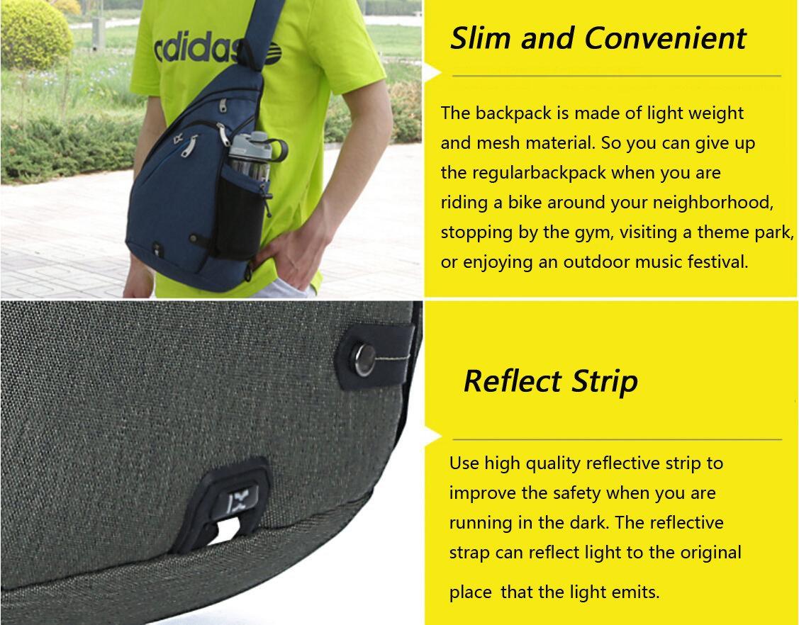 EGOGO Multi-Functional Sling Pack Backpack Cross Body Pack Shoulder Sling  Bag Hiking Dackpack One a549a50adba43