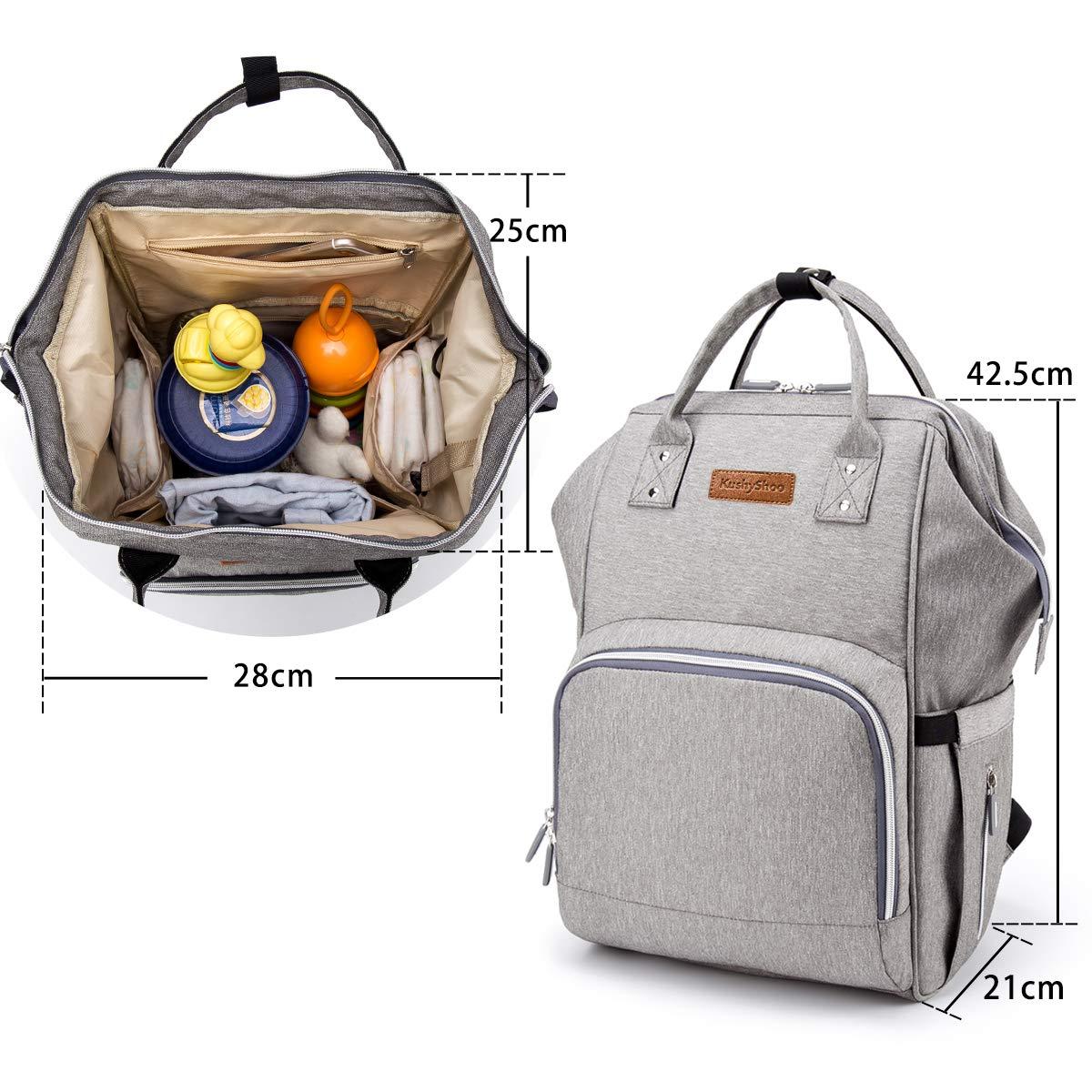 Wasserdicht Gro/ße Kapazit/ät Baby Wickelrucksack Wickeltasche mit Wickelunterlage USB-Lade Port 2 Kinderwagen-haken Multifunktional