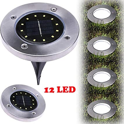 Amazon.com: xeduo LED Solar Powered luz de piso, 12LED la ...