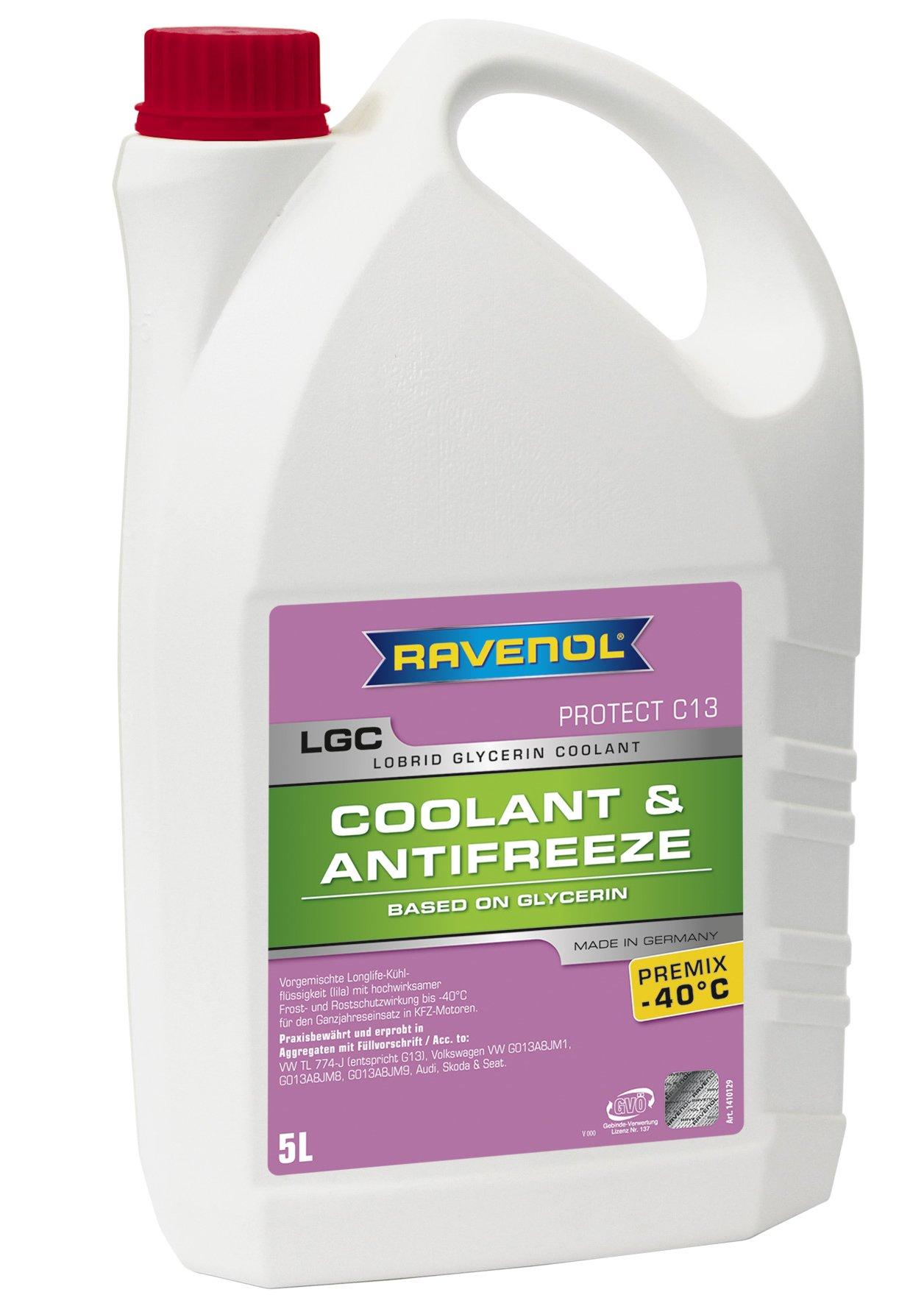RAVENOL J4D2003-1 Coolant Antifreeze - LGC C13 Premix VW TL 774-J (G13) (5 Liter)