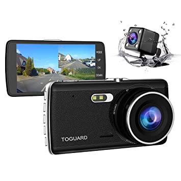 "TOGUARD Dual Dash Cam FHD 1080P 4.0/"" Car Camera Front Rear View Cam DVR Recorder"