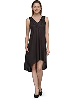 3c93608277 Patrorna Women s Lace Trim Babydoll Chemise Nighty Night Dress (Size XS-7XL