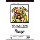 "Bianyo Bleedproof Marker Paper Pad- 9""X12""- 50 Sheets"