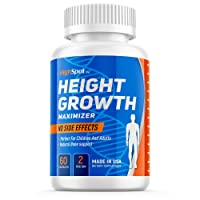 Height Growth Maximizer - Natural Peak Height - Organic Formula to Grow Taller - Height Pills To Bone Grow Process - Get Taller Supplement - Growth Pills To Make You Taller - Made In Usa