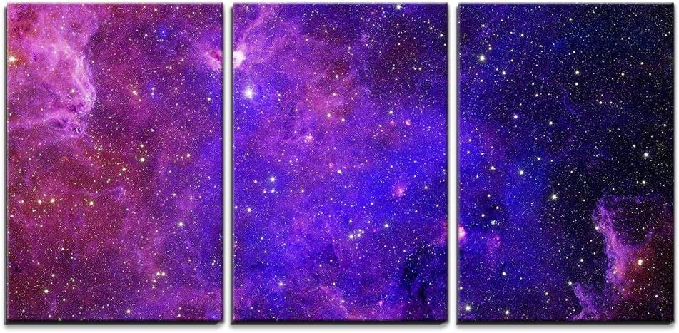 Wall26 3 Piece Canvas Wall Art Galaxy Stars Abstract Space Background Elements Of This Image Furnished By Nasa Modern Home Art Stretched And Framed Ready To Hang 16 X24 X3 Panels Posters Prints Amazon Com