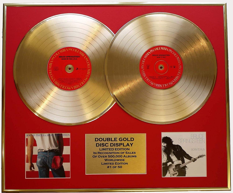 BRUCE SPRINGSTEEN Zweifache Goldene Schallplatte DISPLAY Limitierte Edition COA COA COA