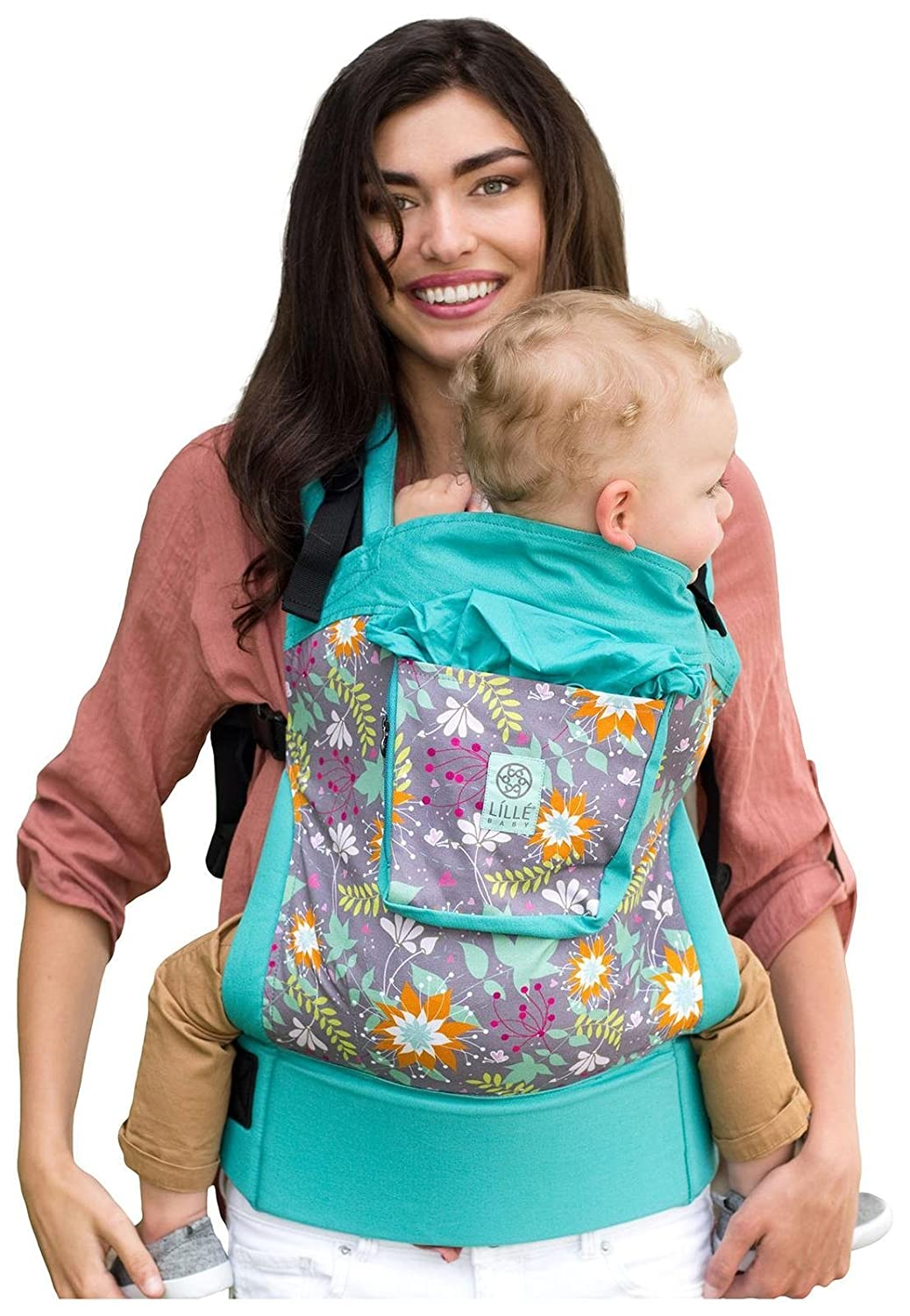 92f6fccb3bf Amazon.com   4 in 1 ESSENTIALS Baby Carrier by LILLEbaby - Lily Pond   Baby